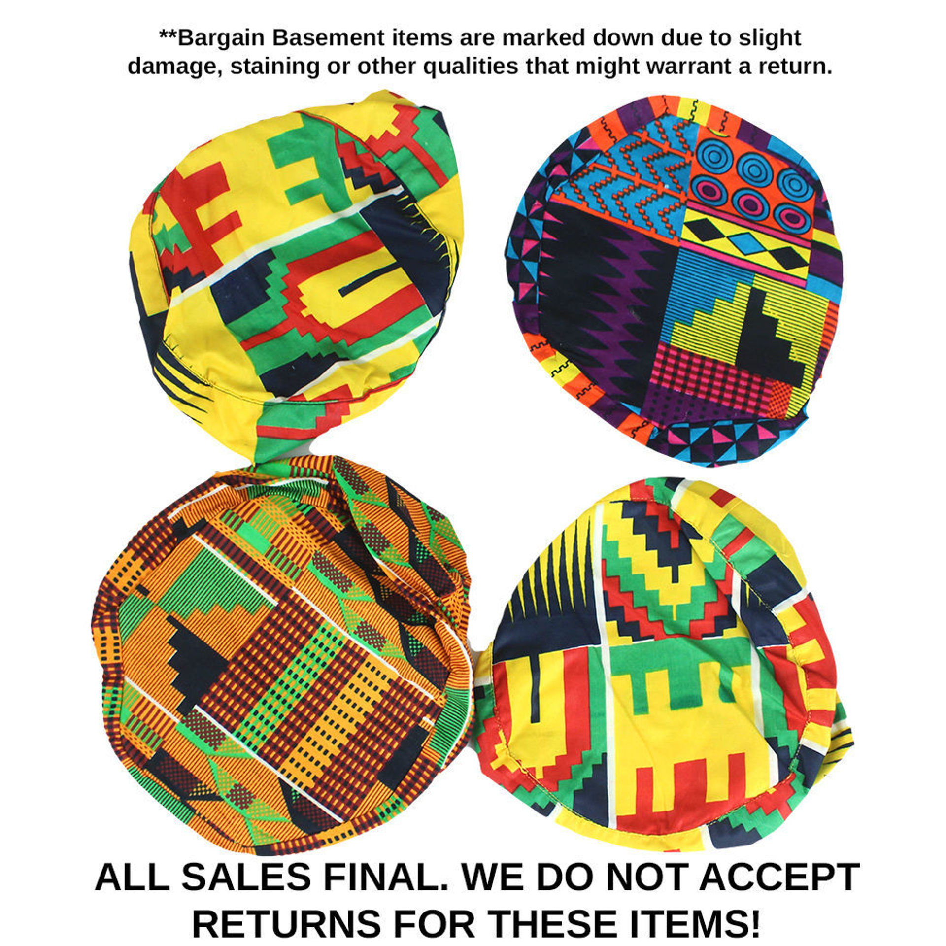 Picture of Set Of 4 DAMAGED Kufi Hats - ASSORTED