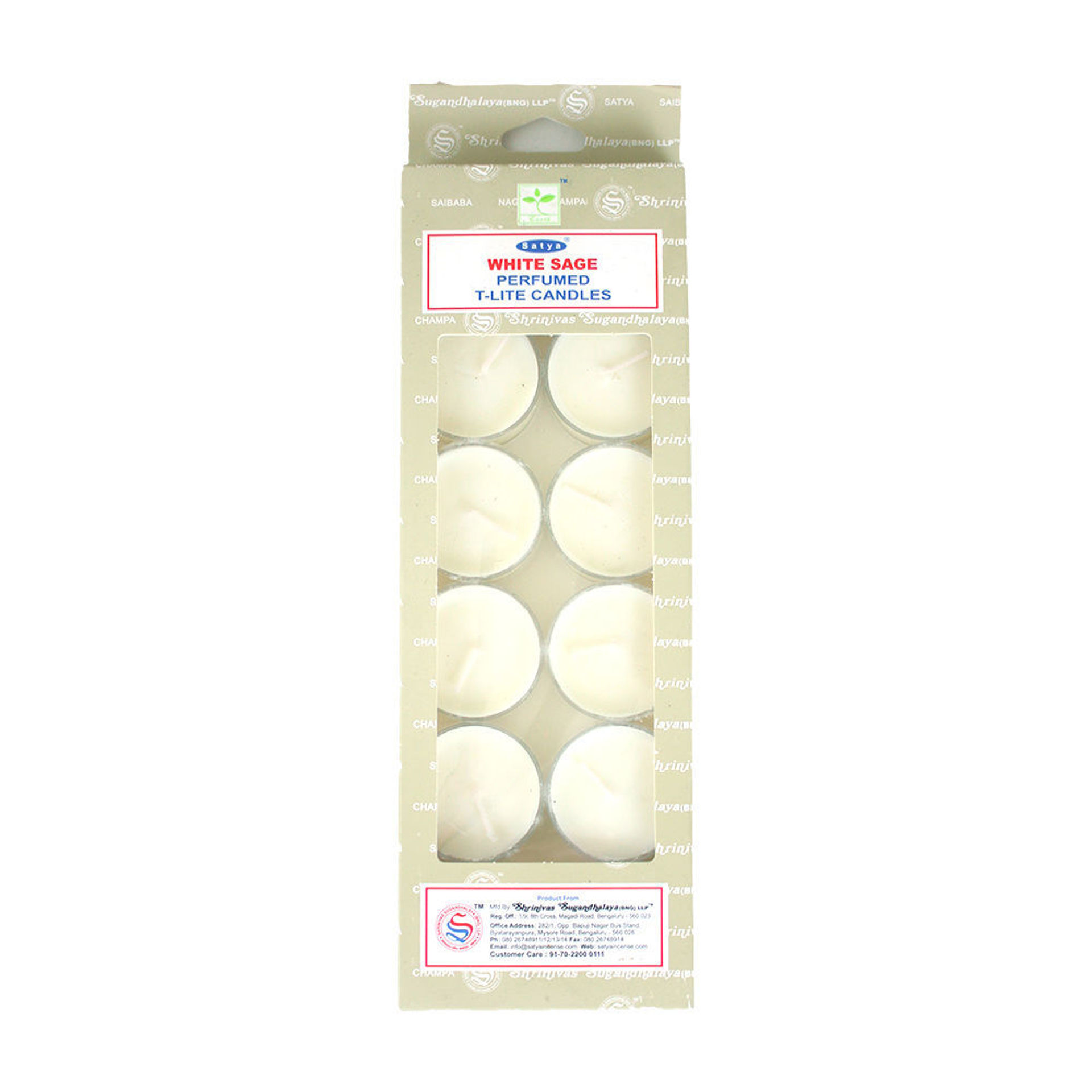 Picture of White Sage Tea Light Candles - Set Of 12