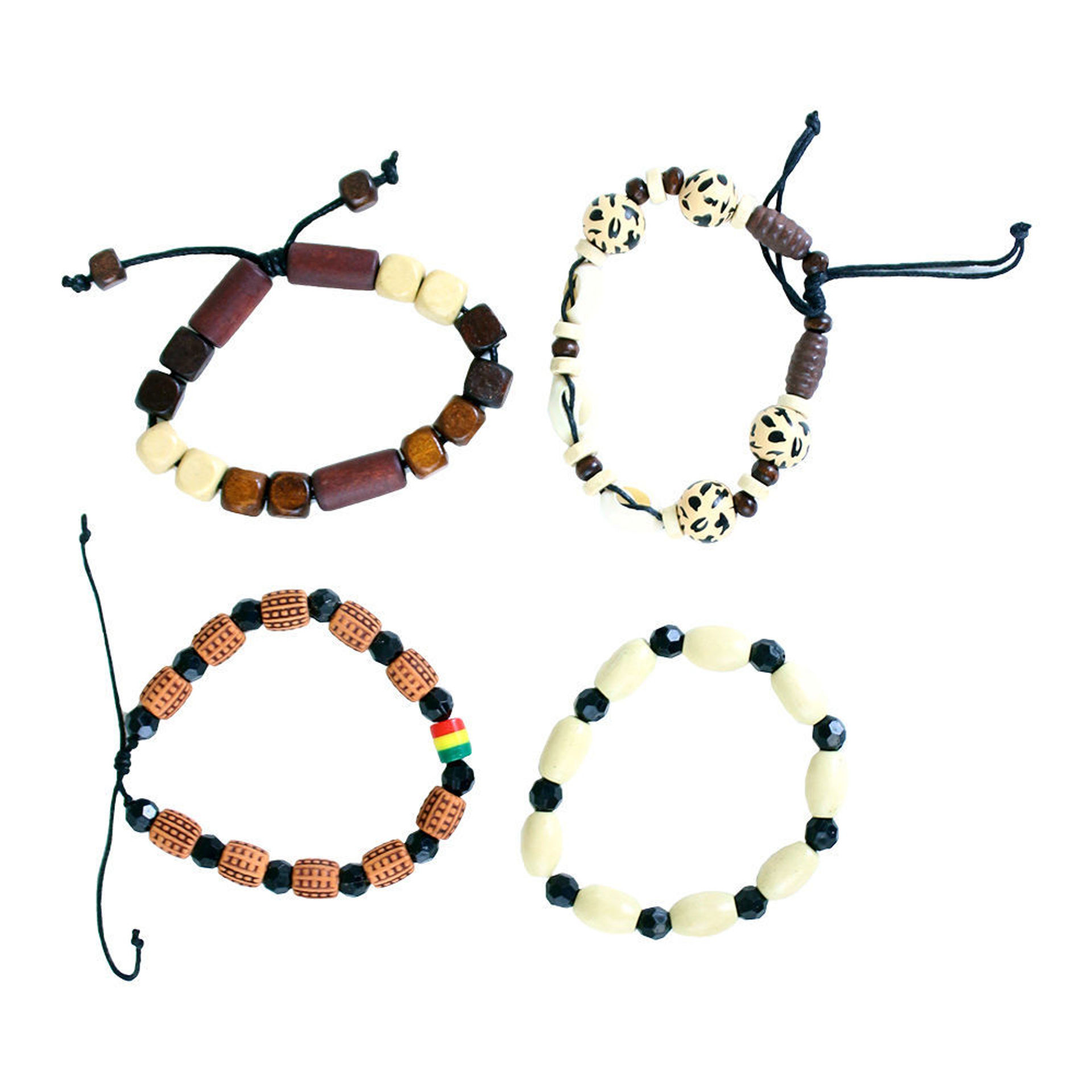 Picture of Set Of 4 Afrocentric Bracelets