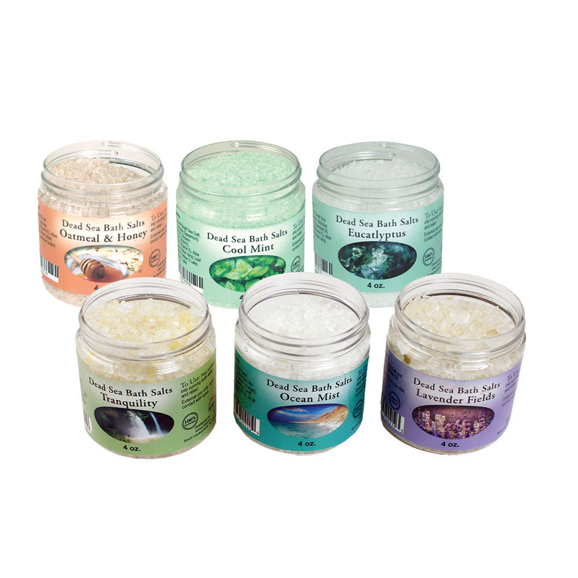 Picture of Set Of 6 Scented Dead Sea Salts - 4 oz.