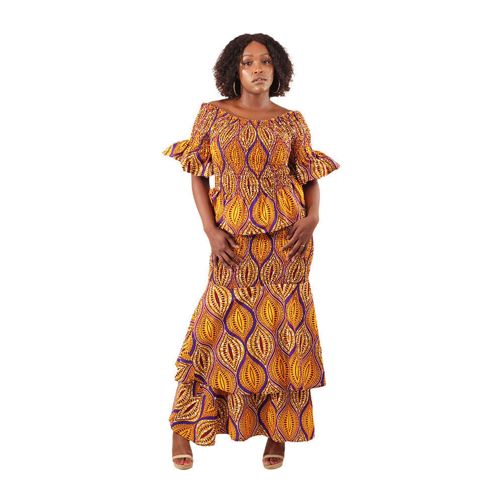 Picture of African Print Elastic Skirt Set: Style-B