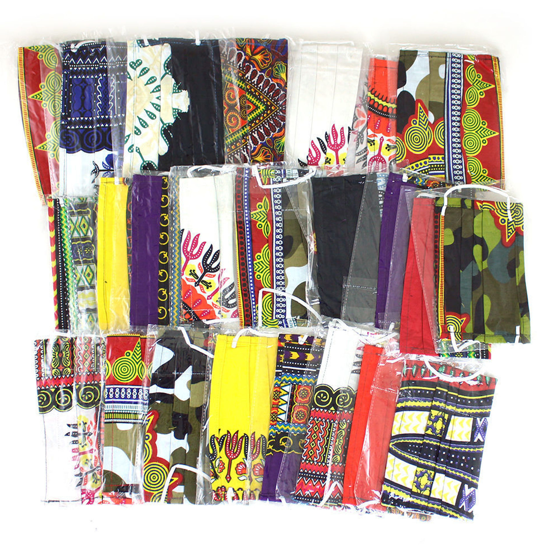Picture of Set Of 25 Rectangular Face Masks