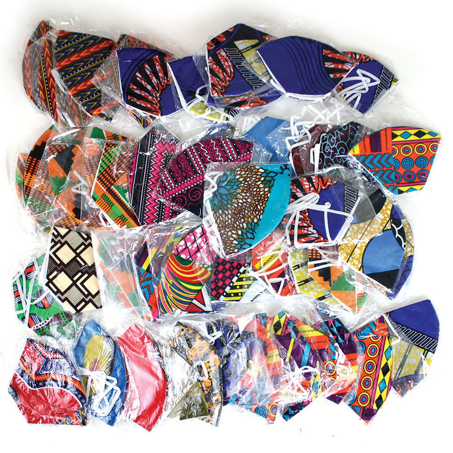 Picture of Set Of 50 Over Head Elastic Face Masks