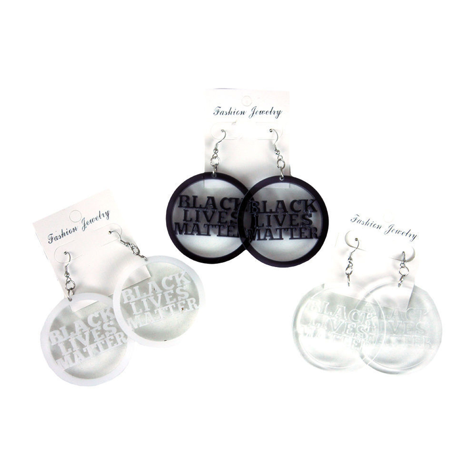Picture of Set Of 12 Black Lives Matter Earrings