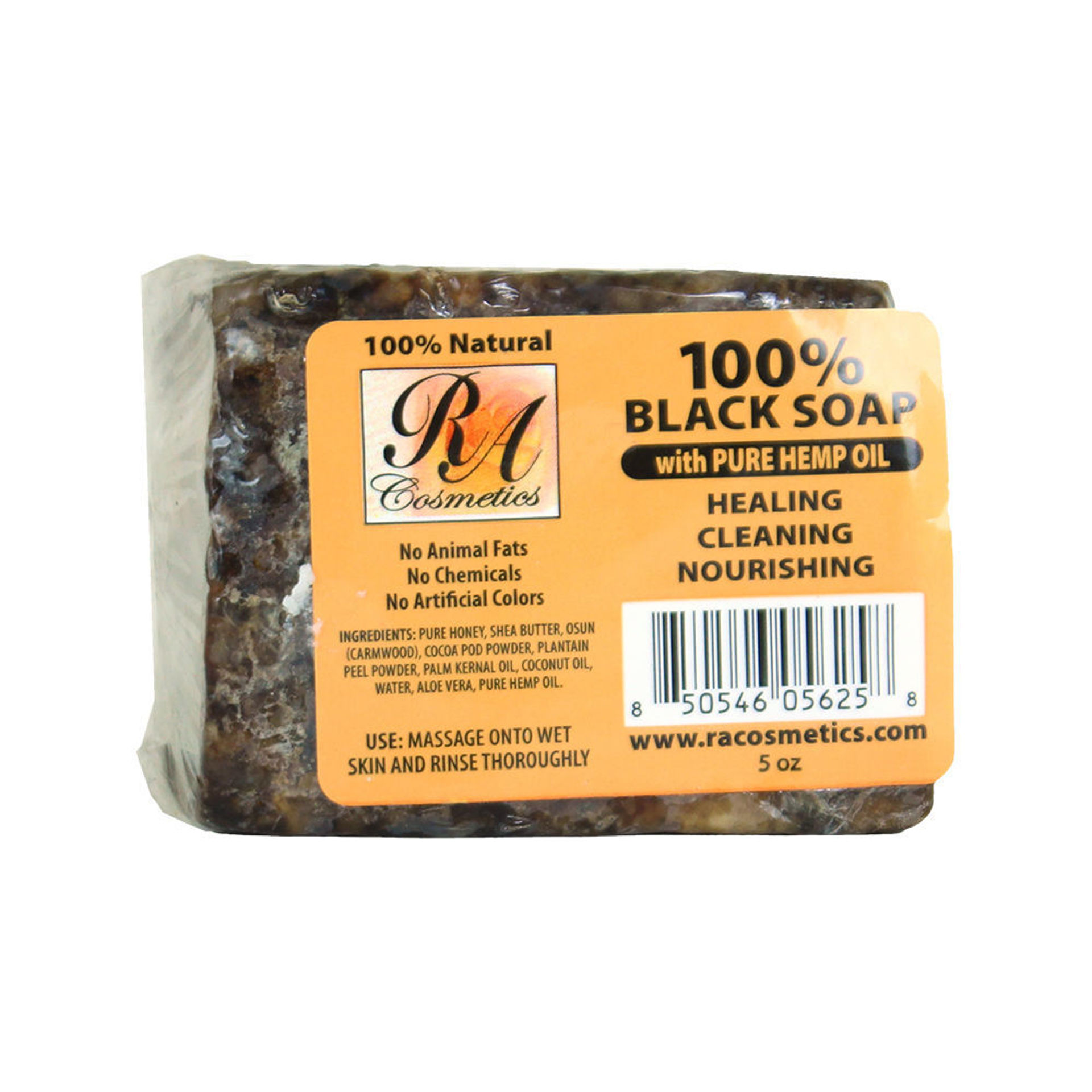Picture of Natural Black Soap: Hemp Oil