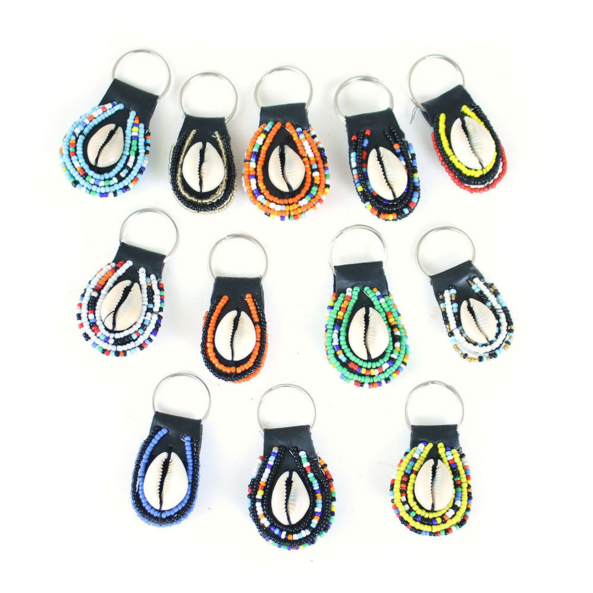 Picture of Set Of 12 Maasai Beaded Key Chains