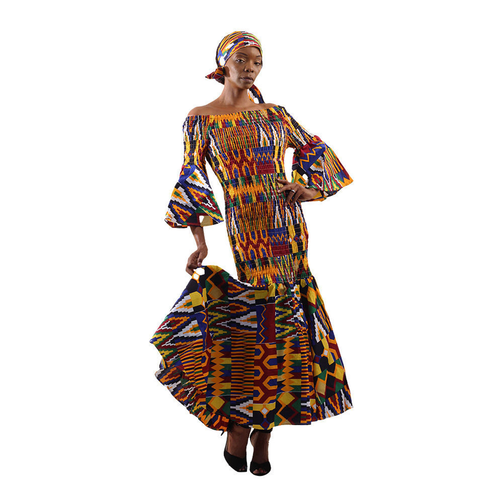 Picture of African Kente Smocked Dress