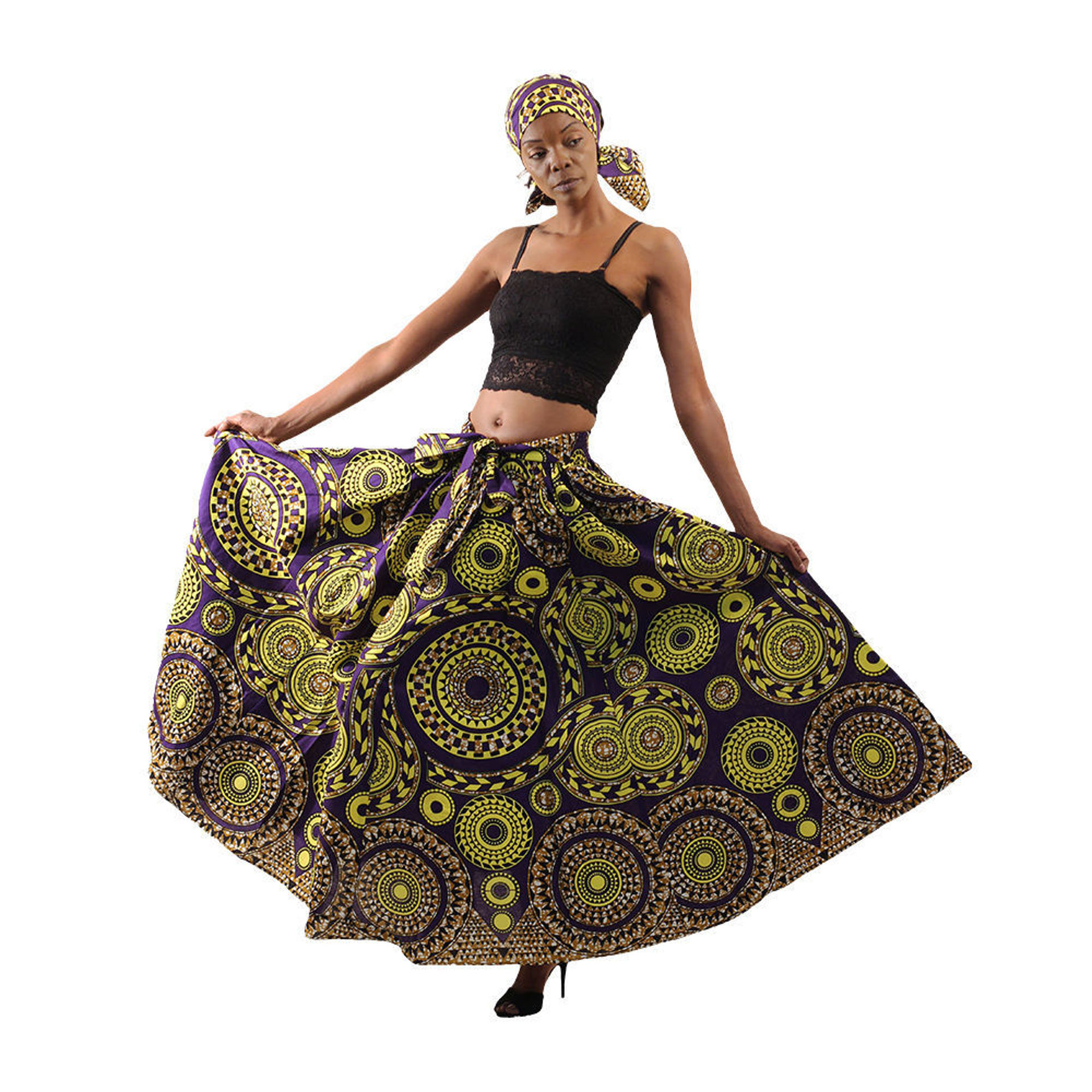 Picture of Tribal Print Maxi Skirt: Plus Size