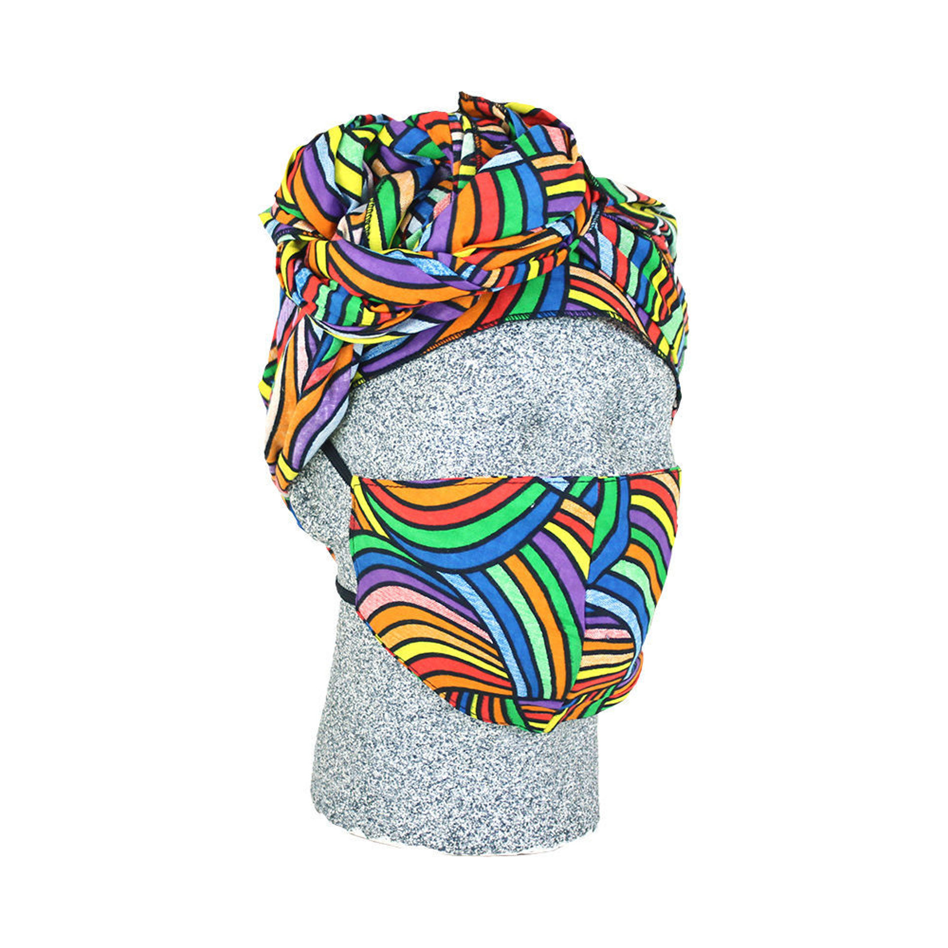 Picture of Rainbow Mask & Head Wrap Set