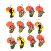 Picture of Set Of 12 Leather Safari Key Chains