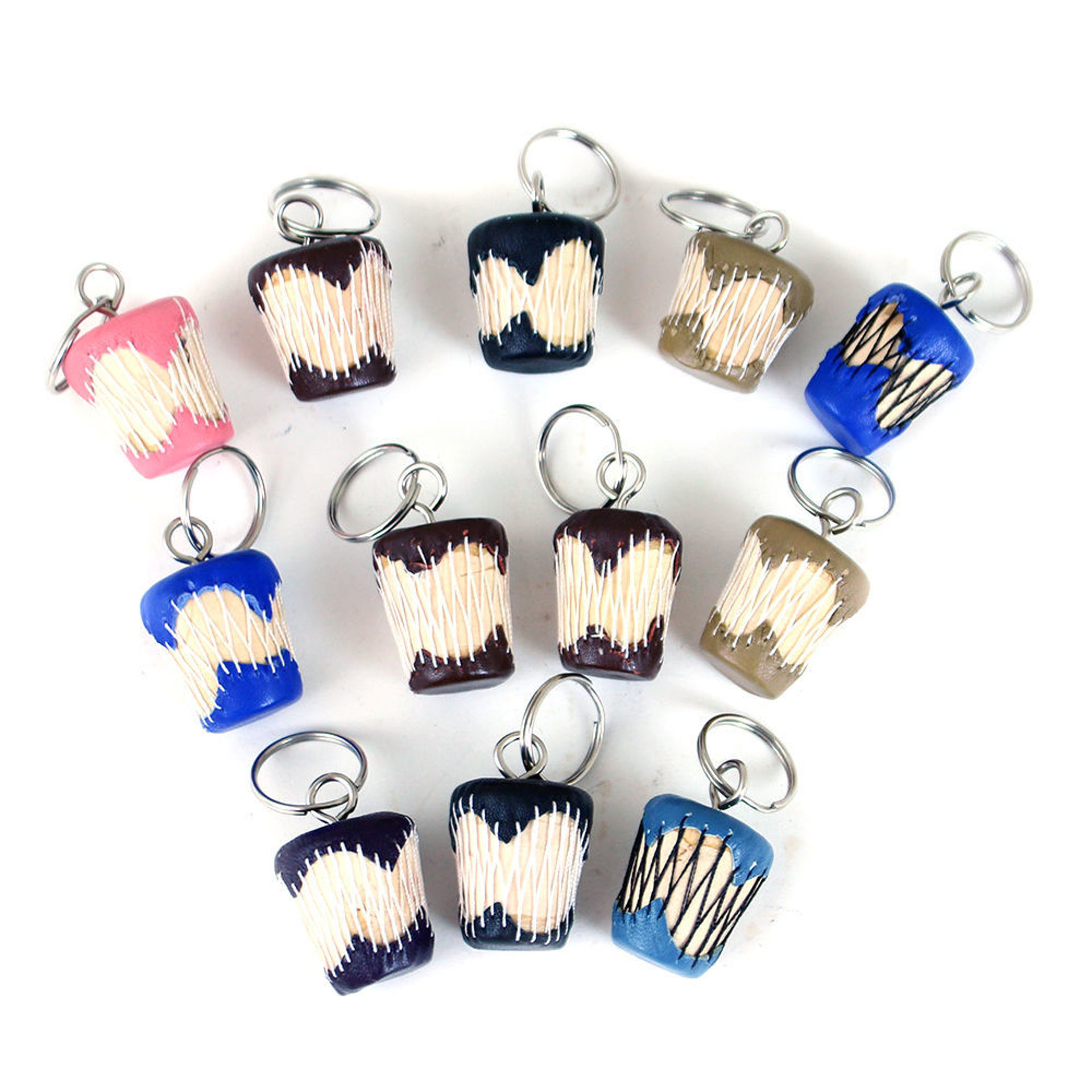 Picture of Set Of 12 African Drum Key Chains