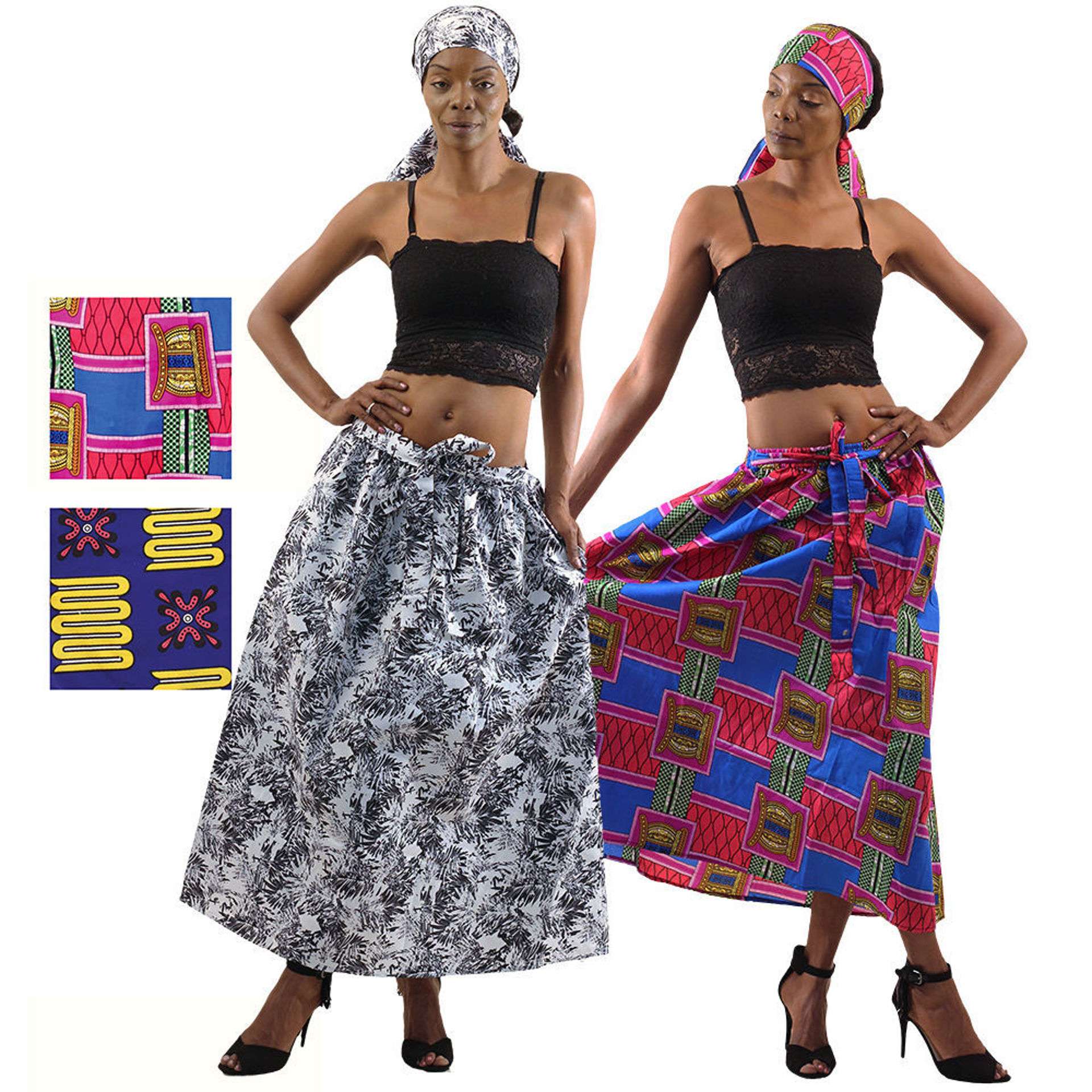 Picture of Set Of 4 ASSORTED African Print Skirts