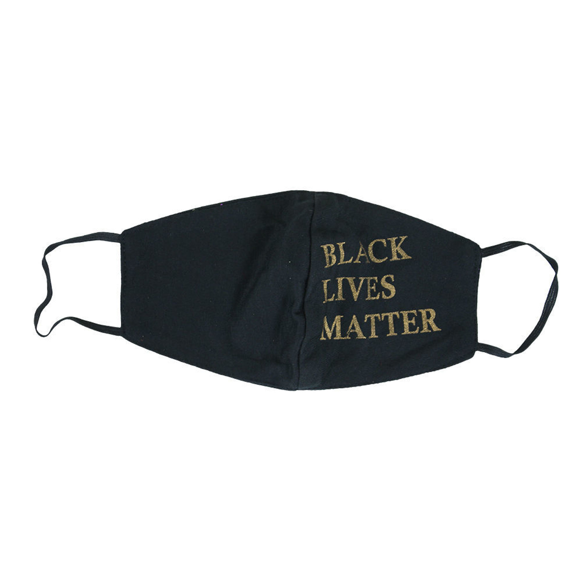 Picture of Set Of 12 Black Lives Matter Masks: Gold