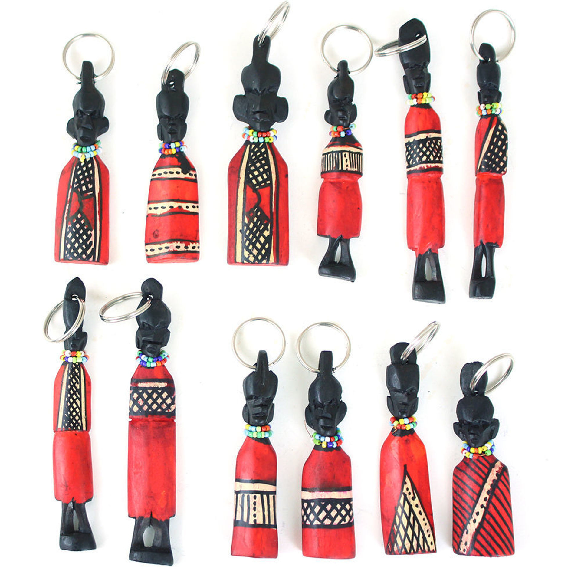 Picture of Set Of 12 Maasai Idol Key Chains