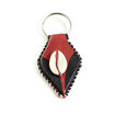 Picture of Set Of 12 Leather & Cowrie Key Chains