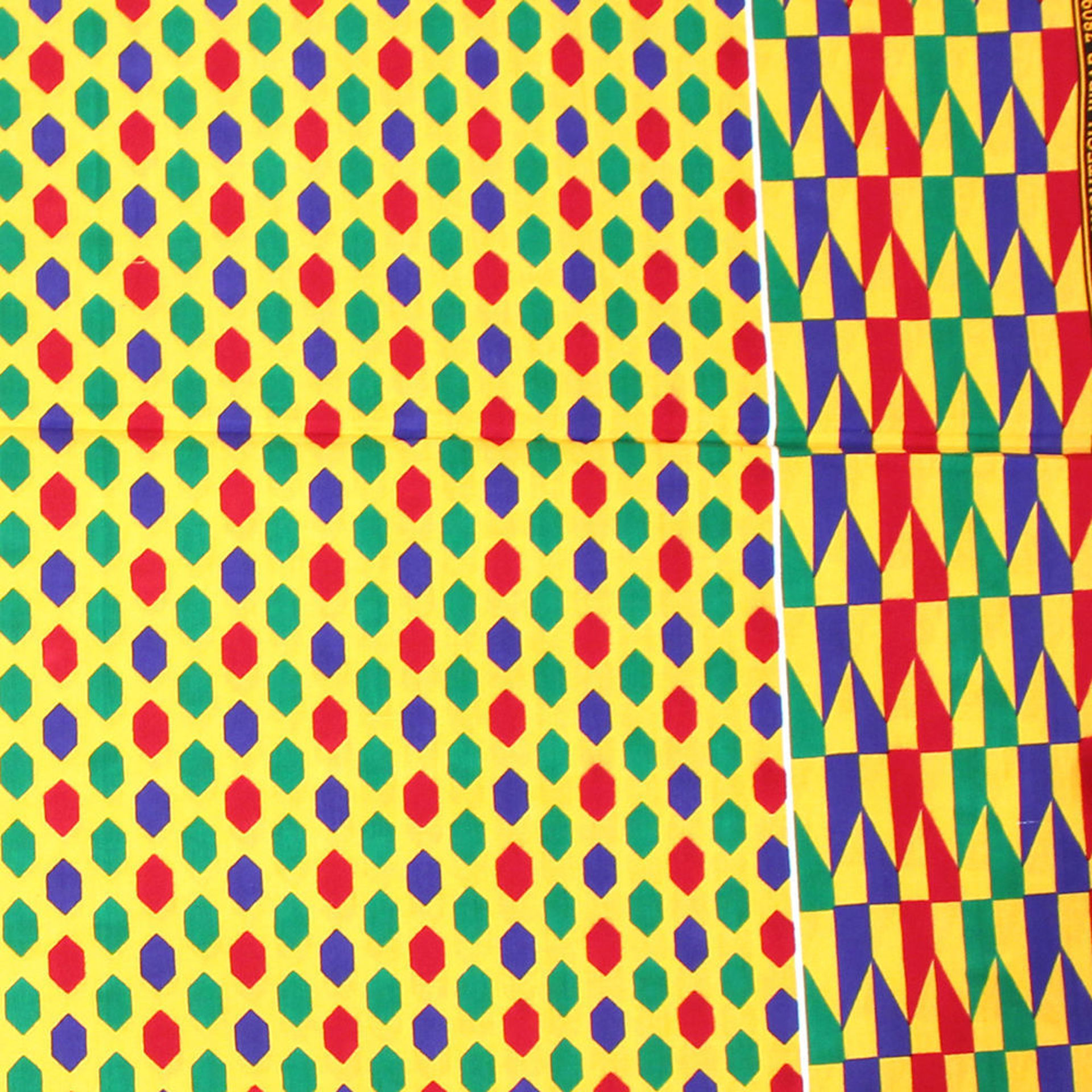 Picture of Multi-Color Hexagon Print Fabric