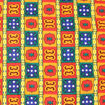 Picture of Bold Crest Print Fabric