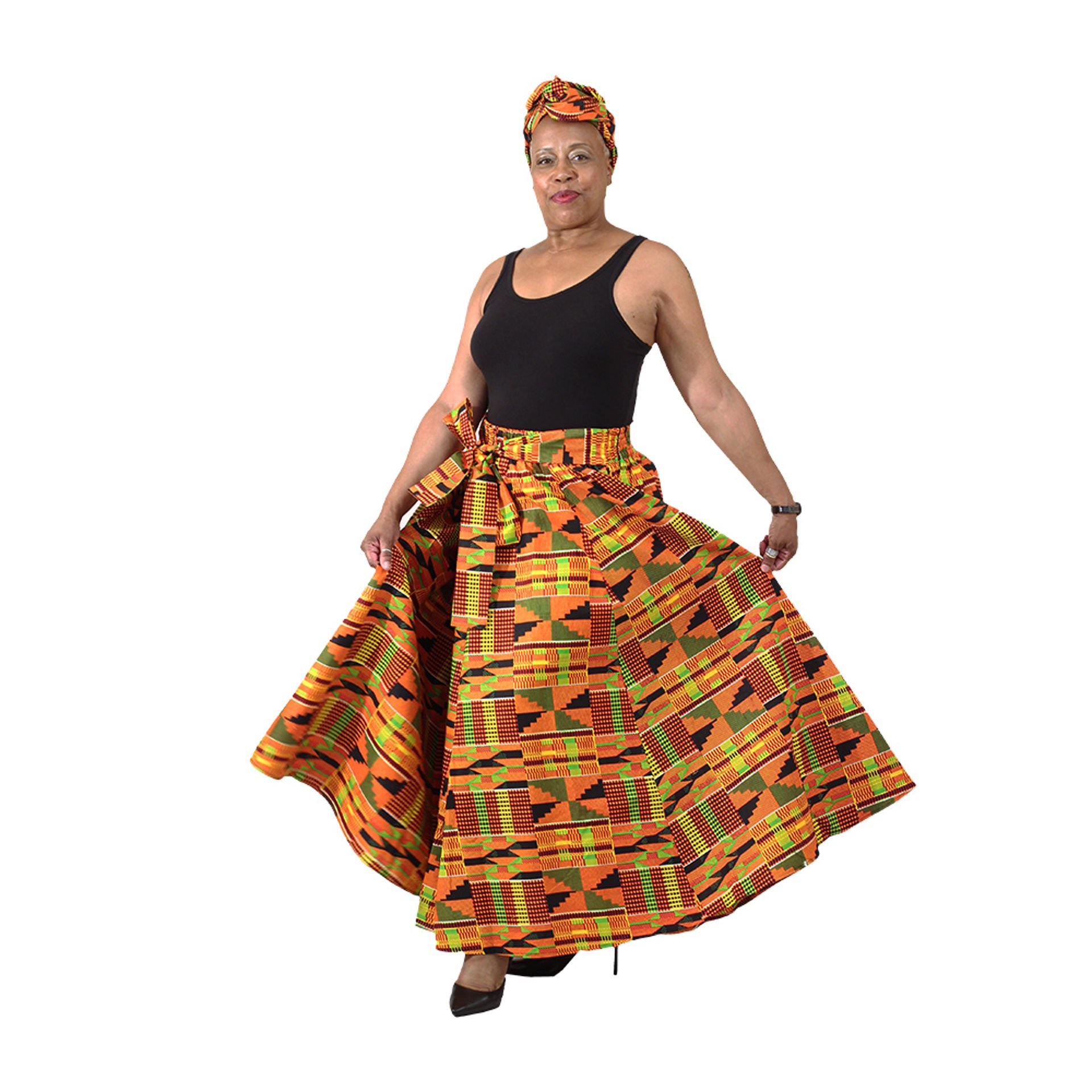 Picture of 8-Panel Skirt: Kente #2
