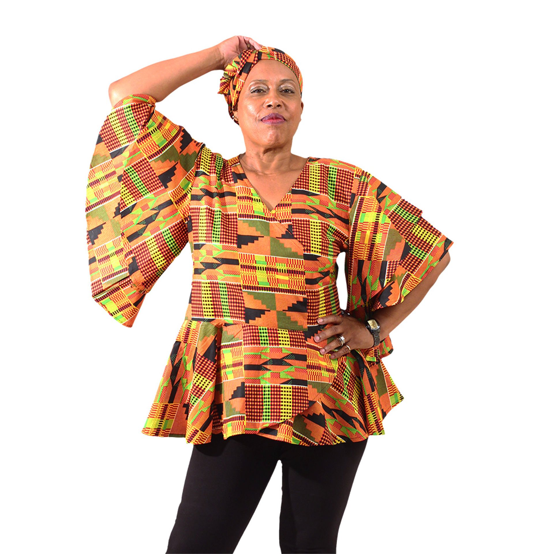Picture of Kente #2 Wrap Shirt