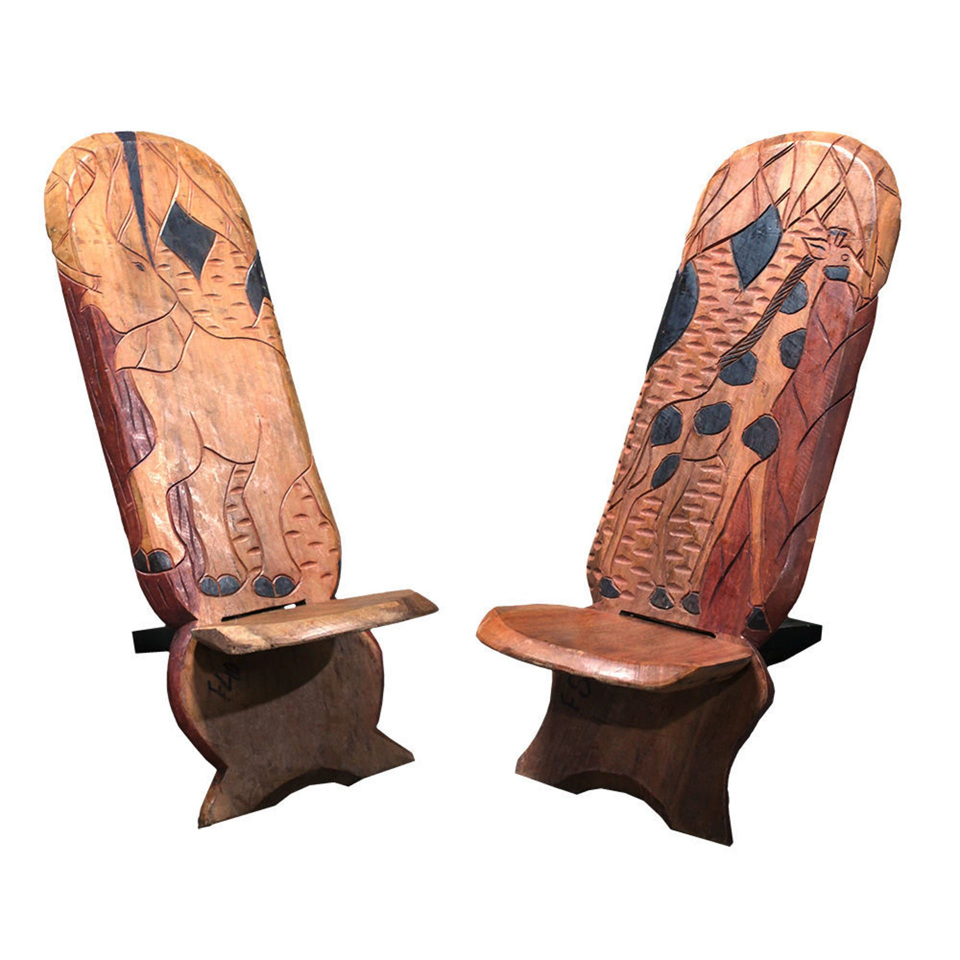 Picture of Large Senegalese Wood Carved Chair