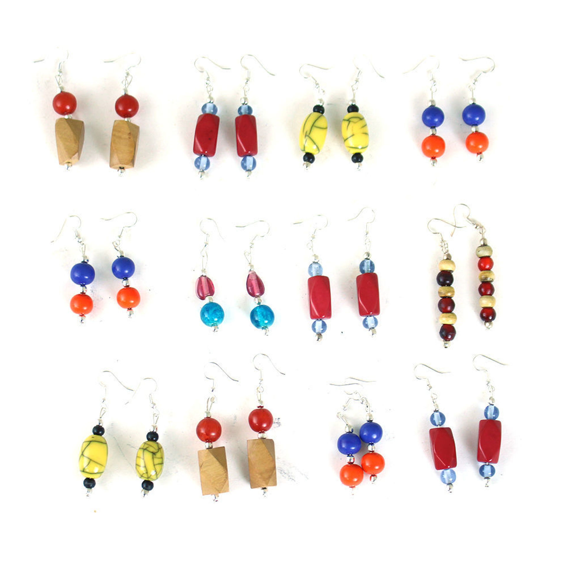 Picture of Set Of 12 Afrocentric Earrings - ASSRTD