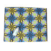 Picture of Blue & Yellow Floral Polyester Fabric