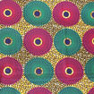Picture of Pink/Green Circle Print Fabric