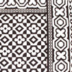 Picture of B&W Checkered Flower Fabric