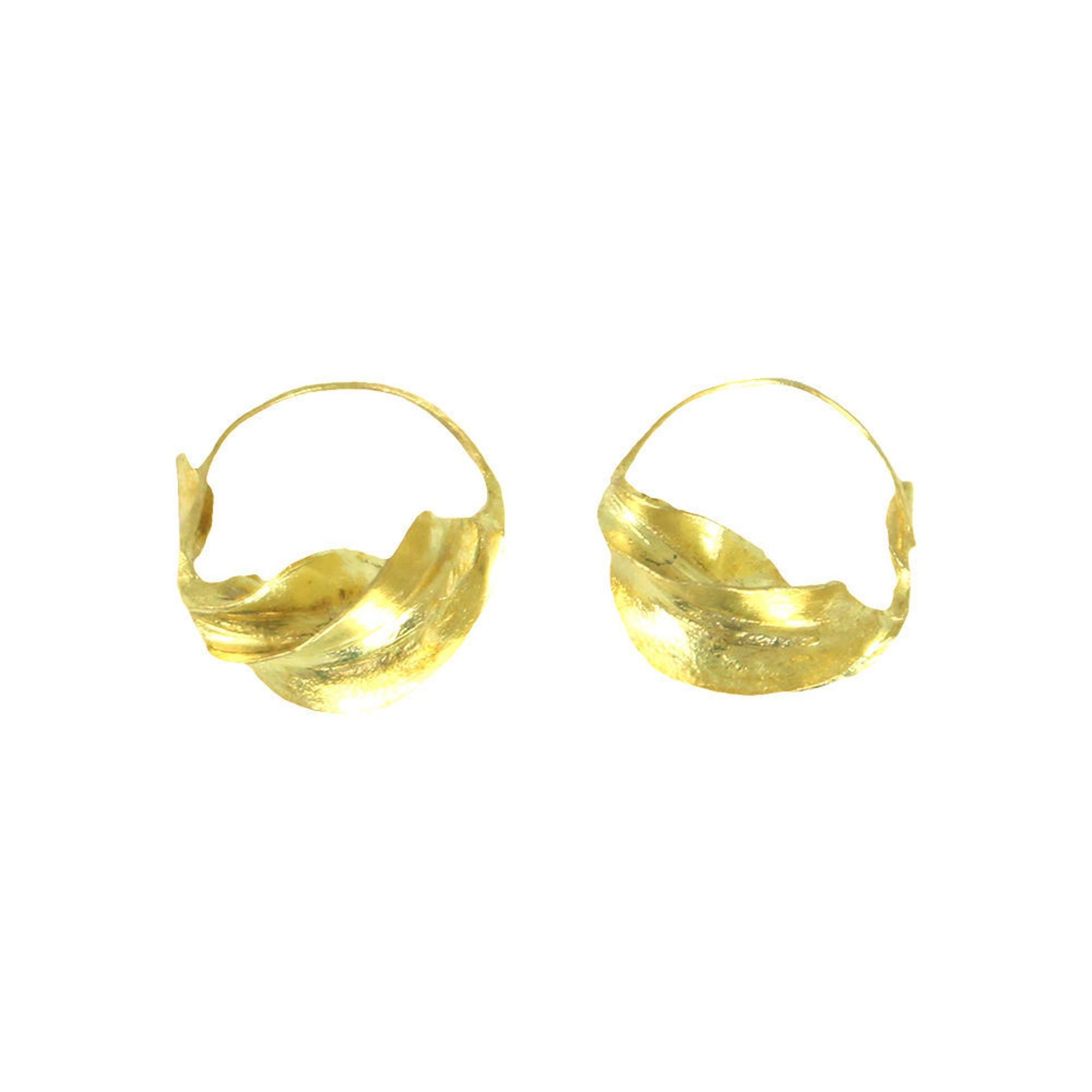 Picture of XS Fulani Gold Earrings - ½""