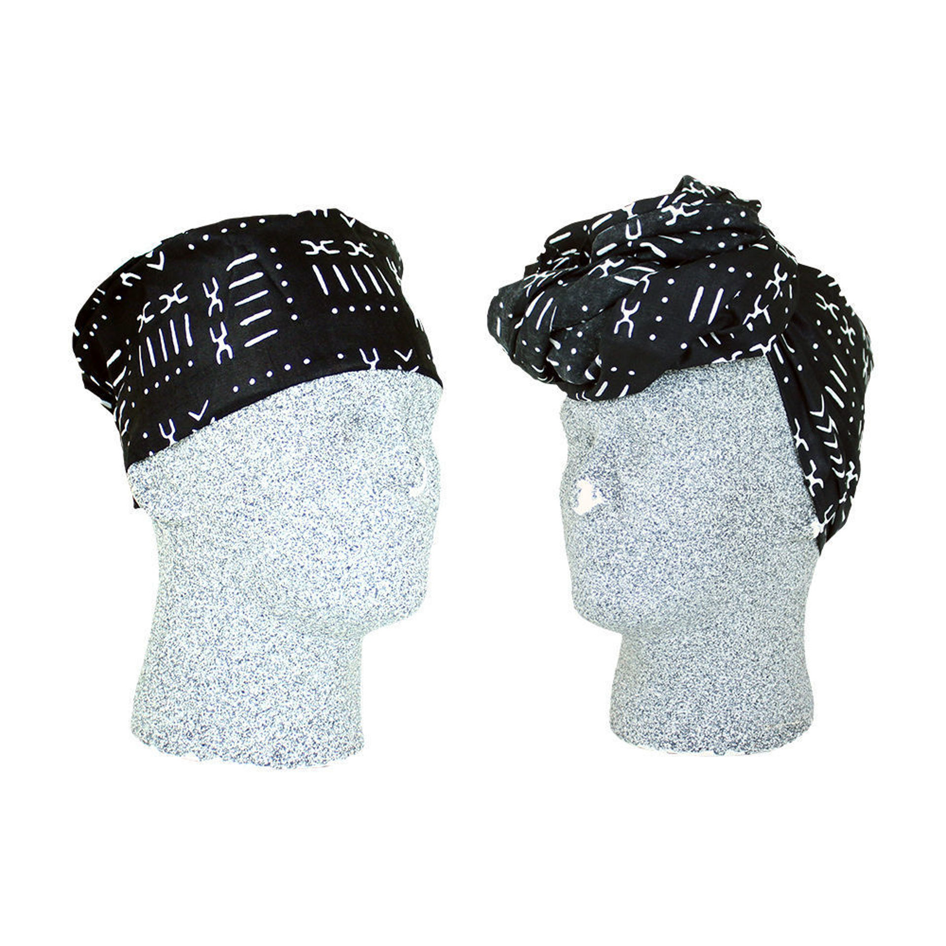Picture of African Print Hat & Head Wrap Set