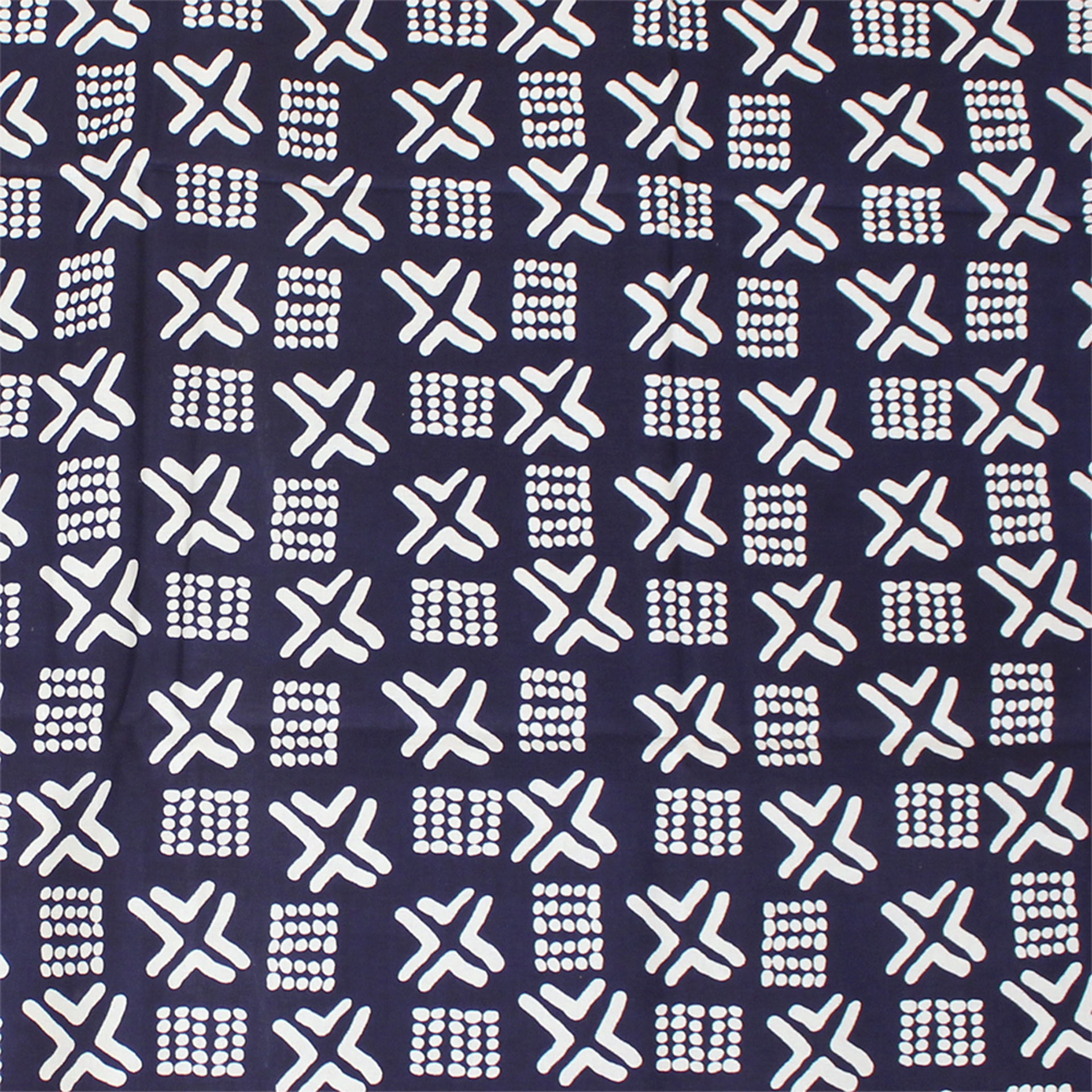 Picture of Blue Mud Print Fabric 12 yards