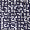 Picture of Blue Mud Print Fabric