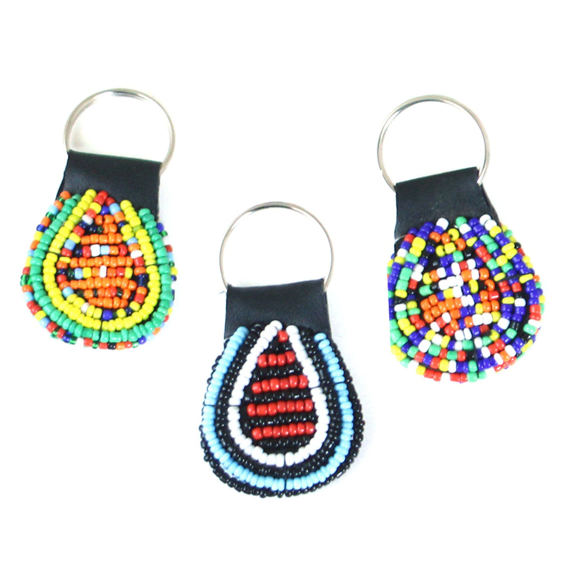 Picture of Round Beaded Maasai Key Chains