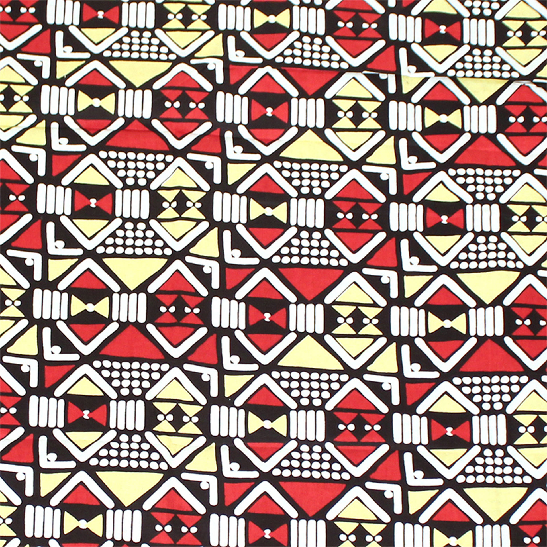 Picture of African Print Red-Yellow Geometrics 12yd