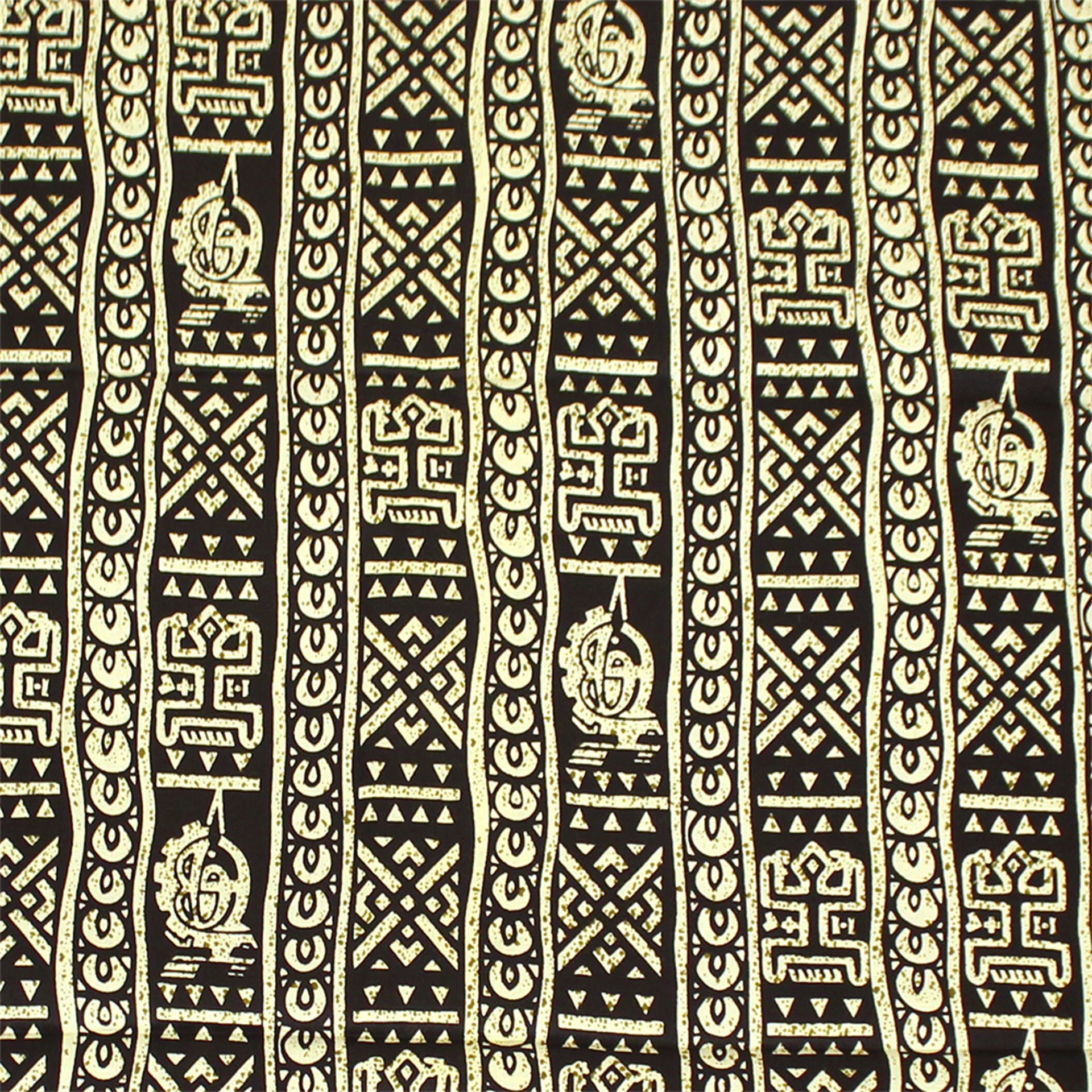 Picture of African Black Print with Off White 12yds