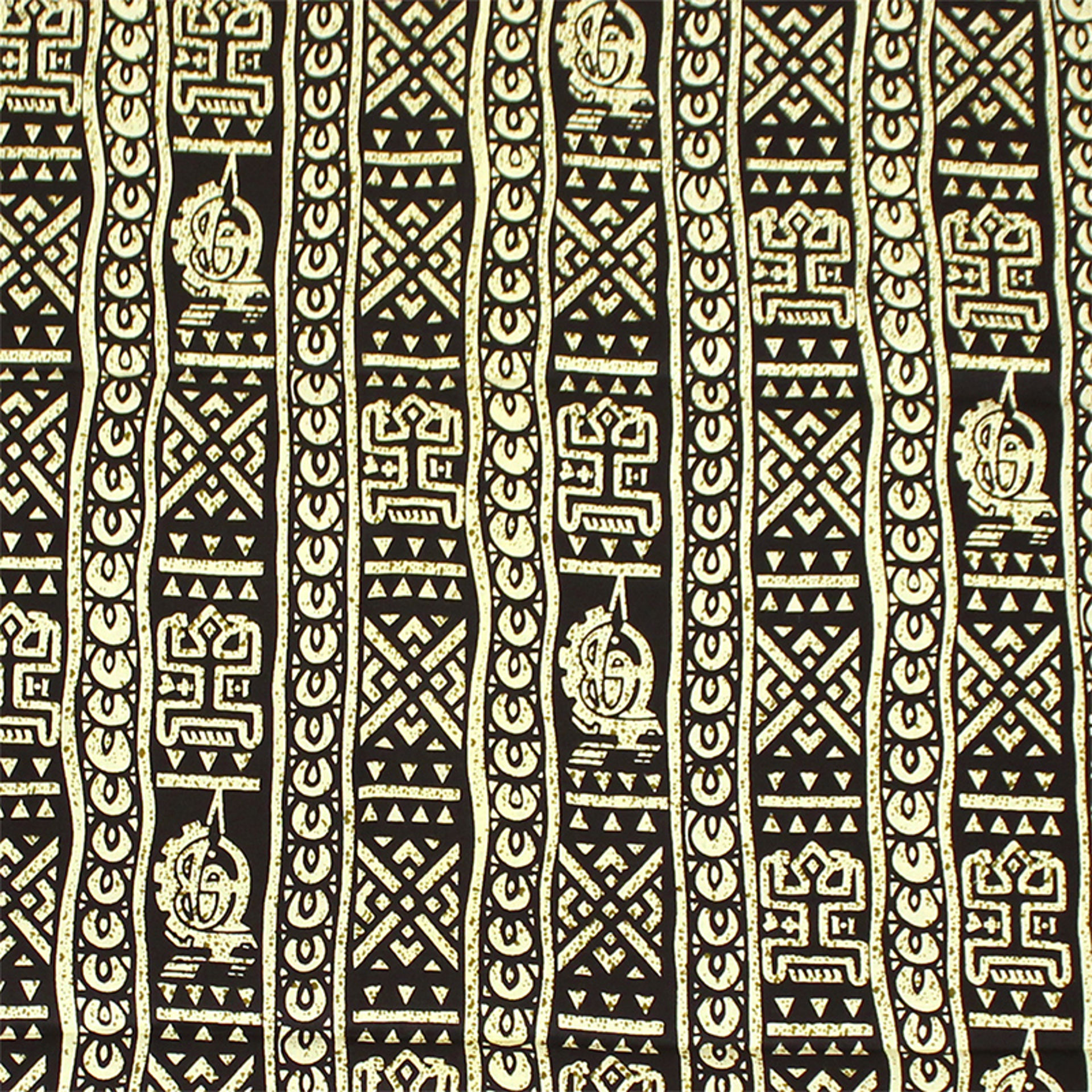 Picture of African Black Print With Off White 6yard