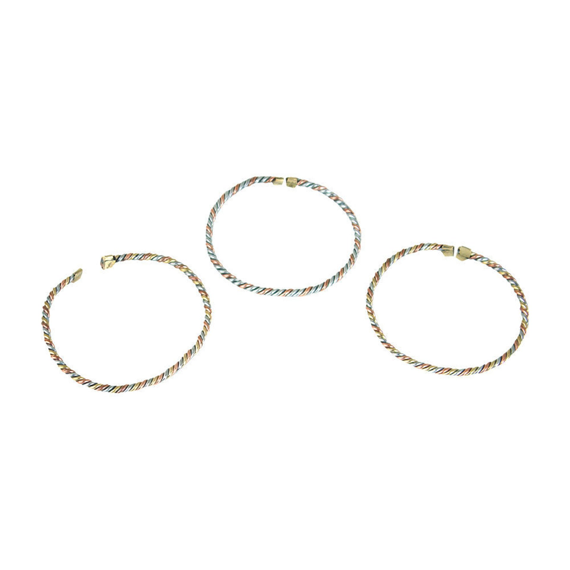Picture of Set Of 3 Slim Copper & Brass Bracelets