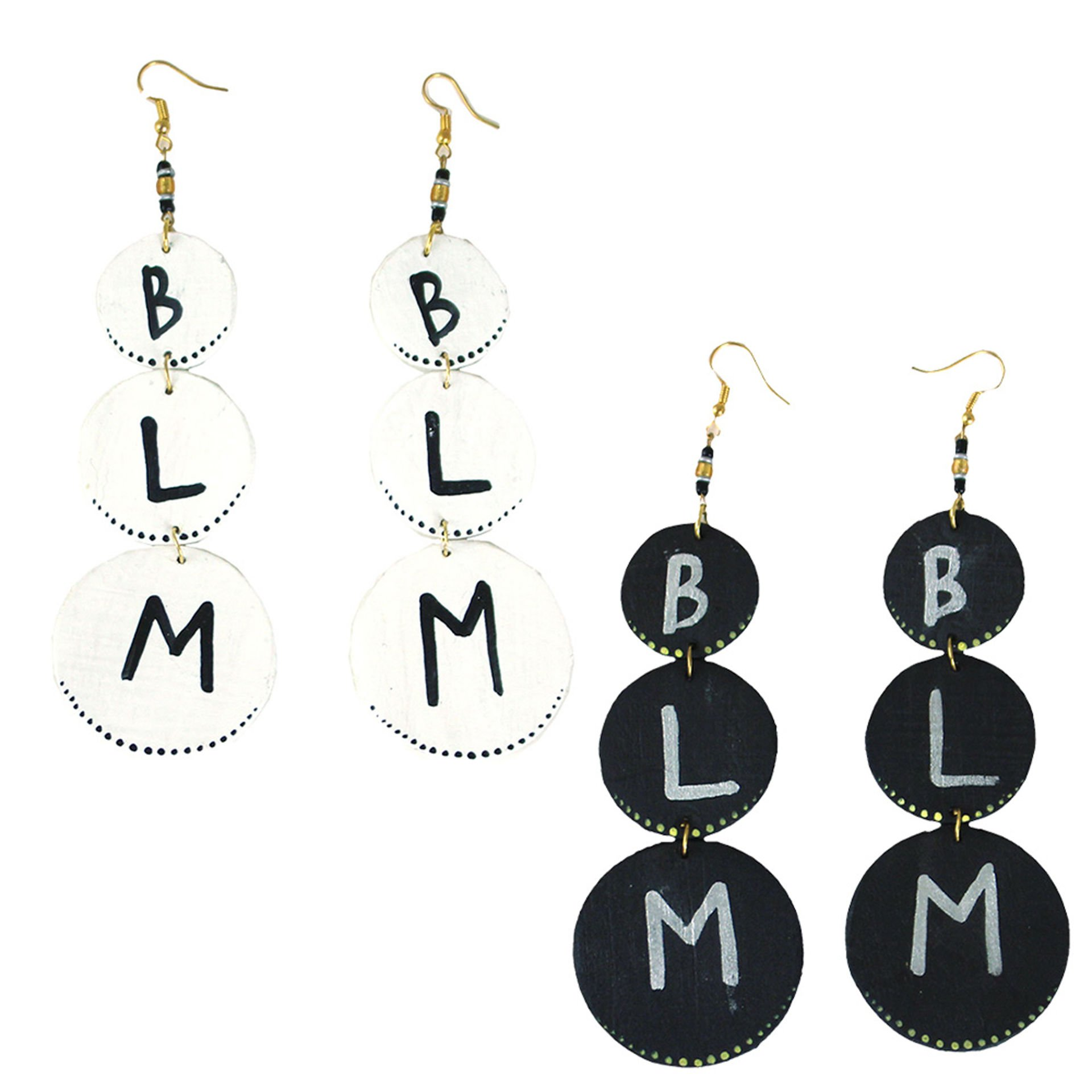 Picture of Black Lives Matter Wood Earrings