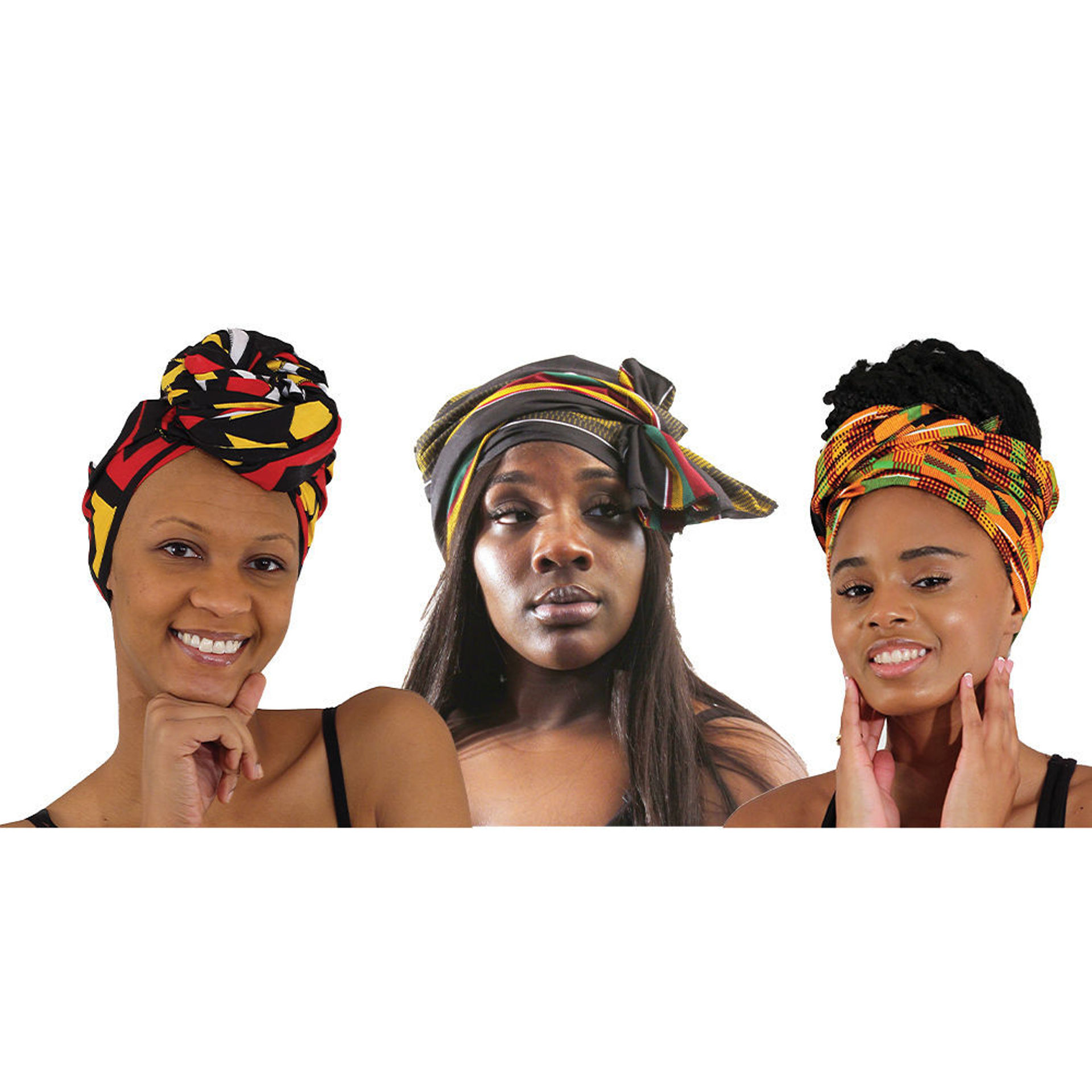 Picture of Set Of 3 Head Wraps - ASSORTED
