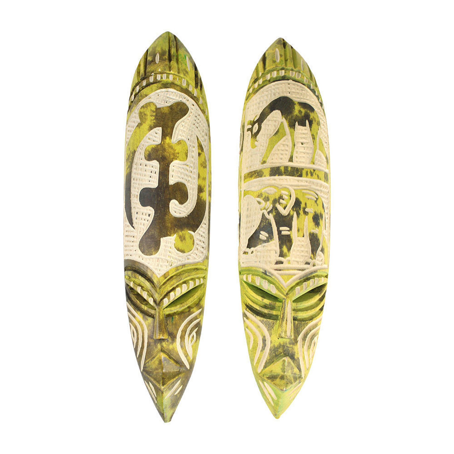 Picture of Small Ghana Fang Mask - Symbol Lime