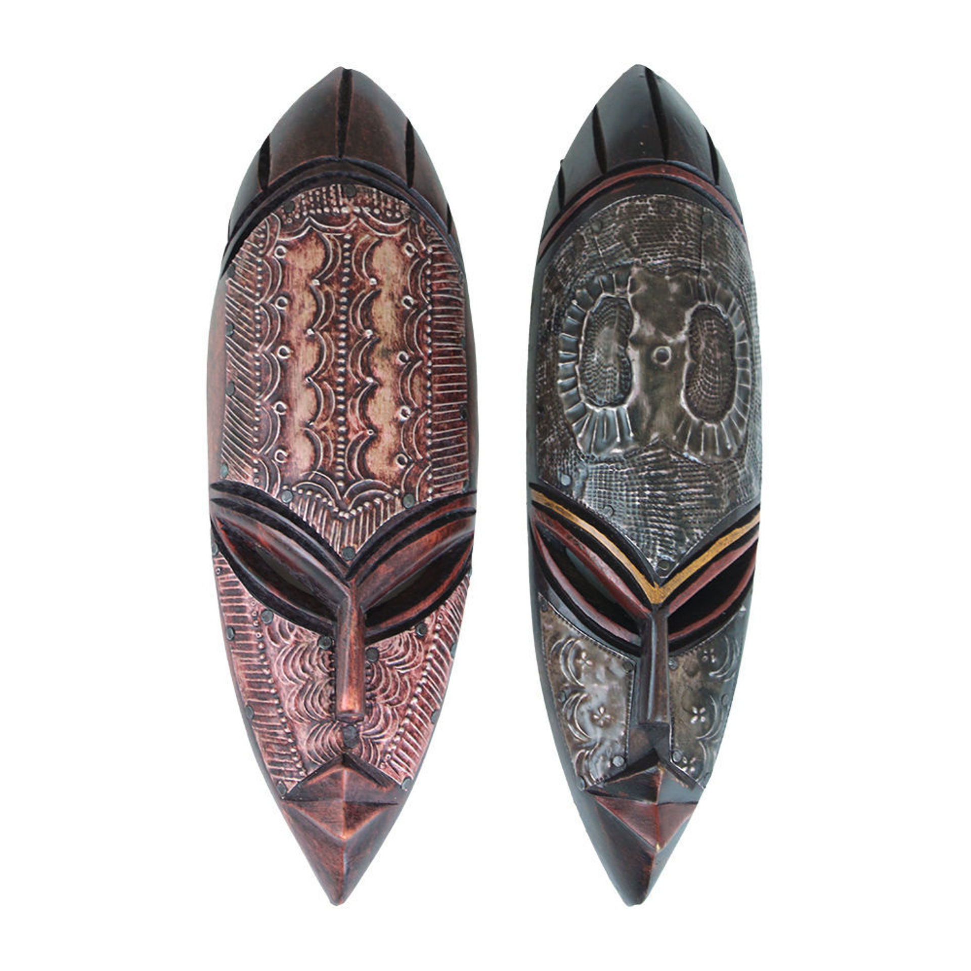 Picture of Small Ghana Fang Mask - Metal/Wood