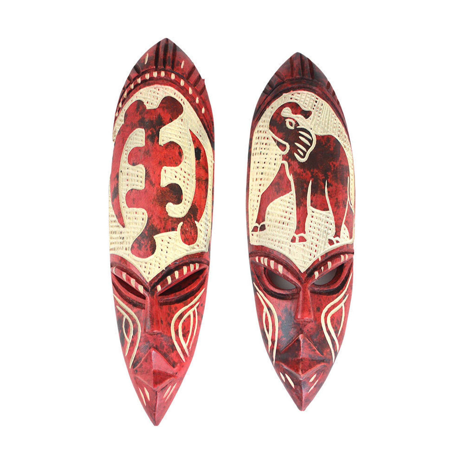 Picture of Small Ghana Fang Mask - Symbol Red