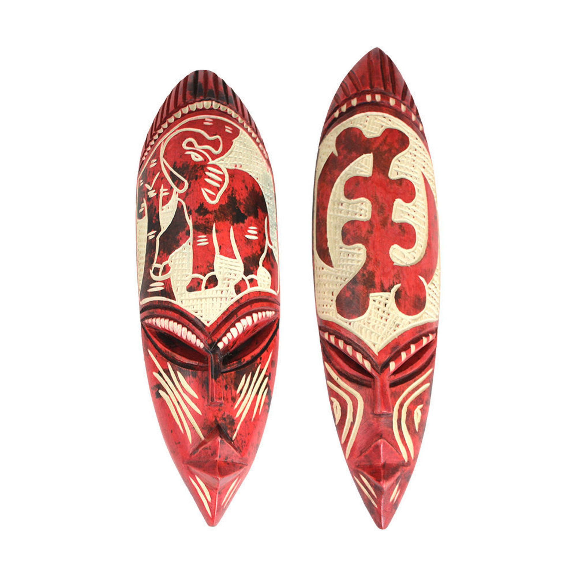 Picture of Small Ghana Fang Mask - Symbol Fuschia