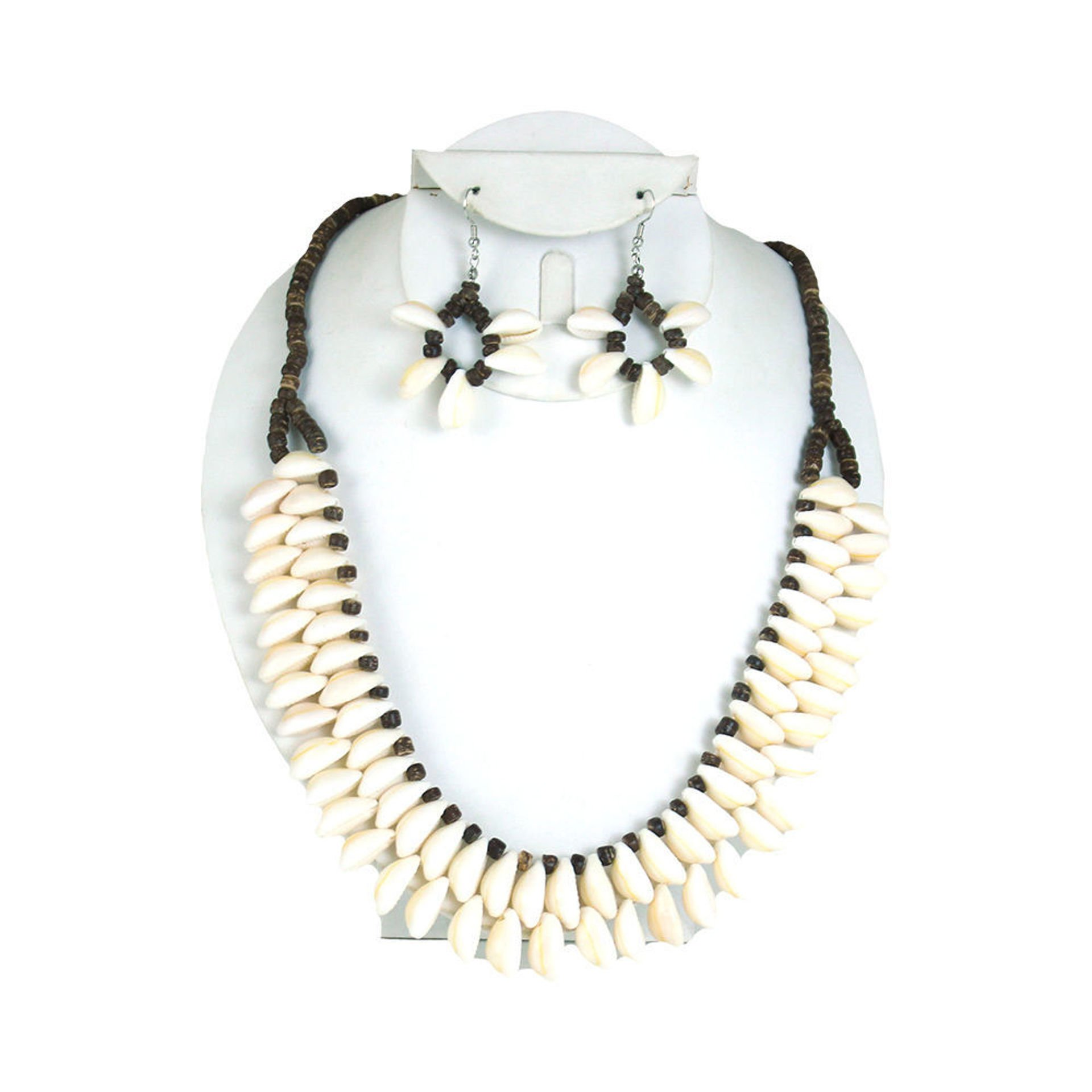 Picture of Double Row Cowrie Shell Jewlery Set