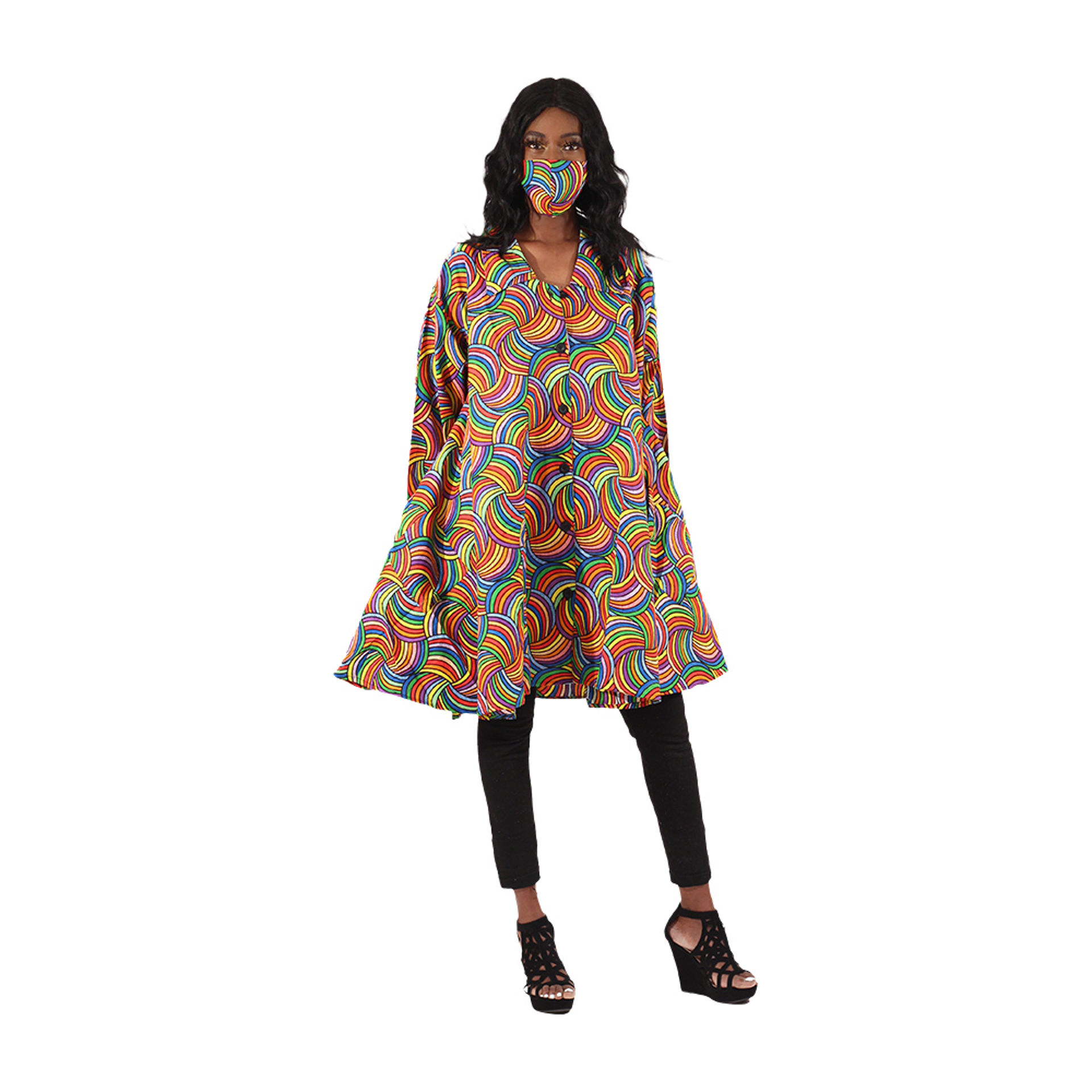 Picture of Colorful Smock with Mask