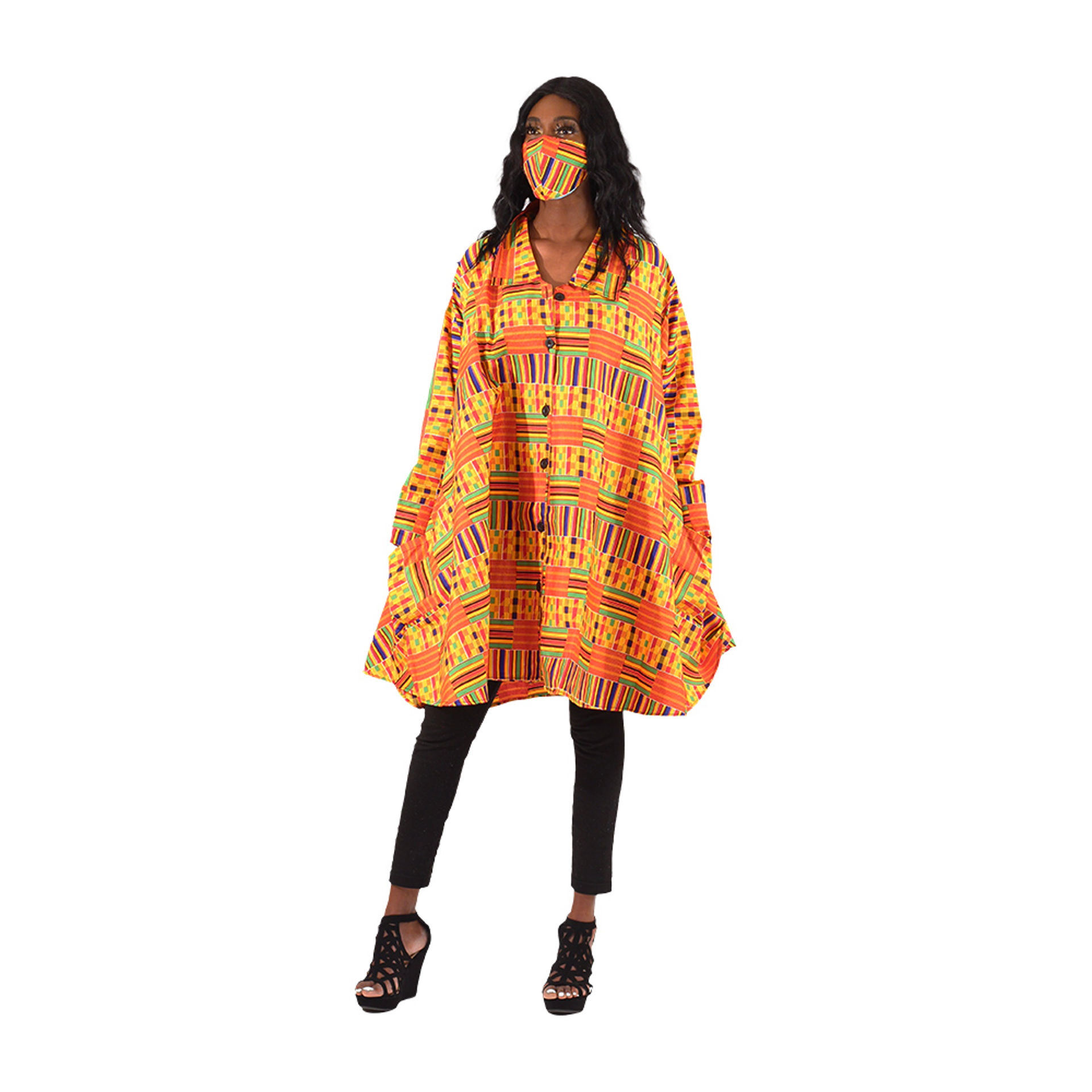 Picture of Kente #1 Smock with Mask