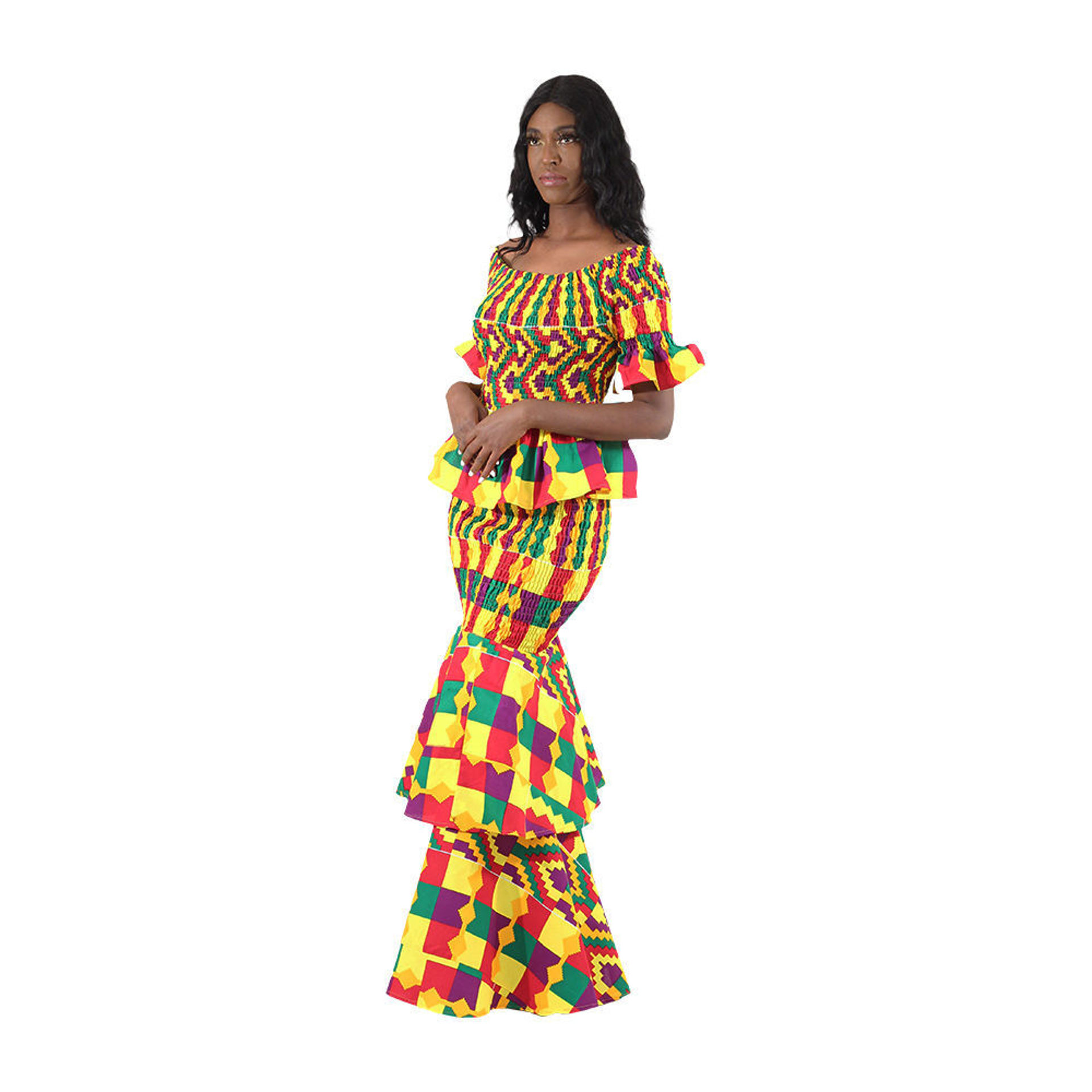 Picture of Kente 2-Piece Elastic Skirt Set