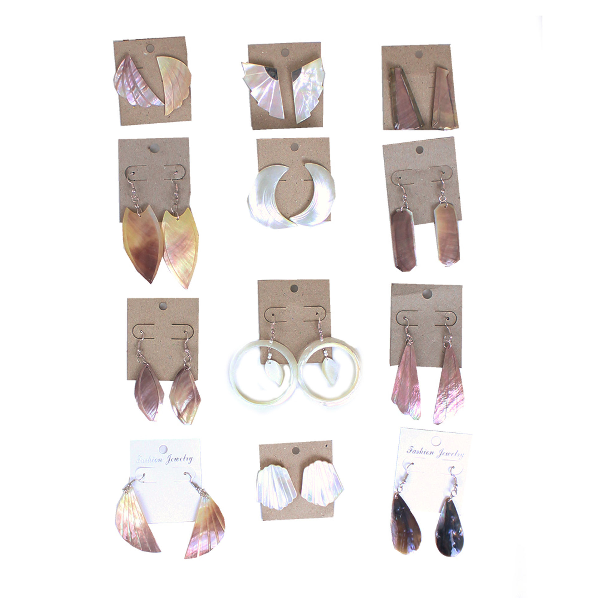 Picture of Set Of 12 ASSORTED Shell Earrings