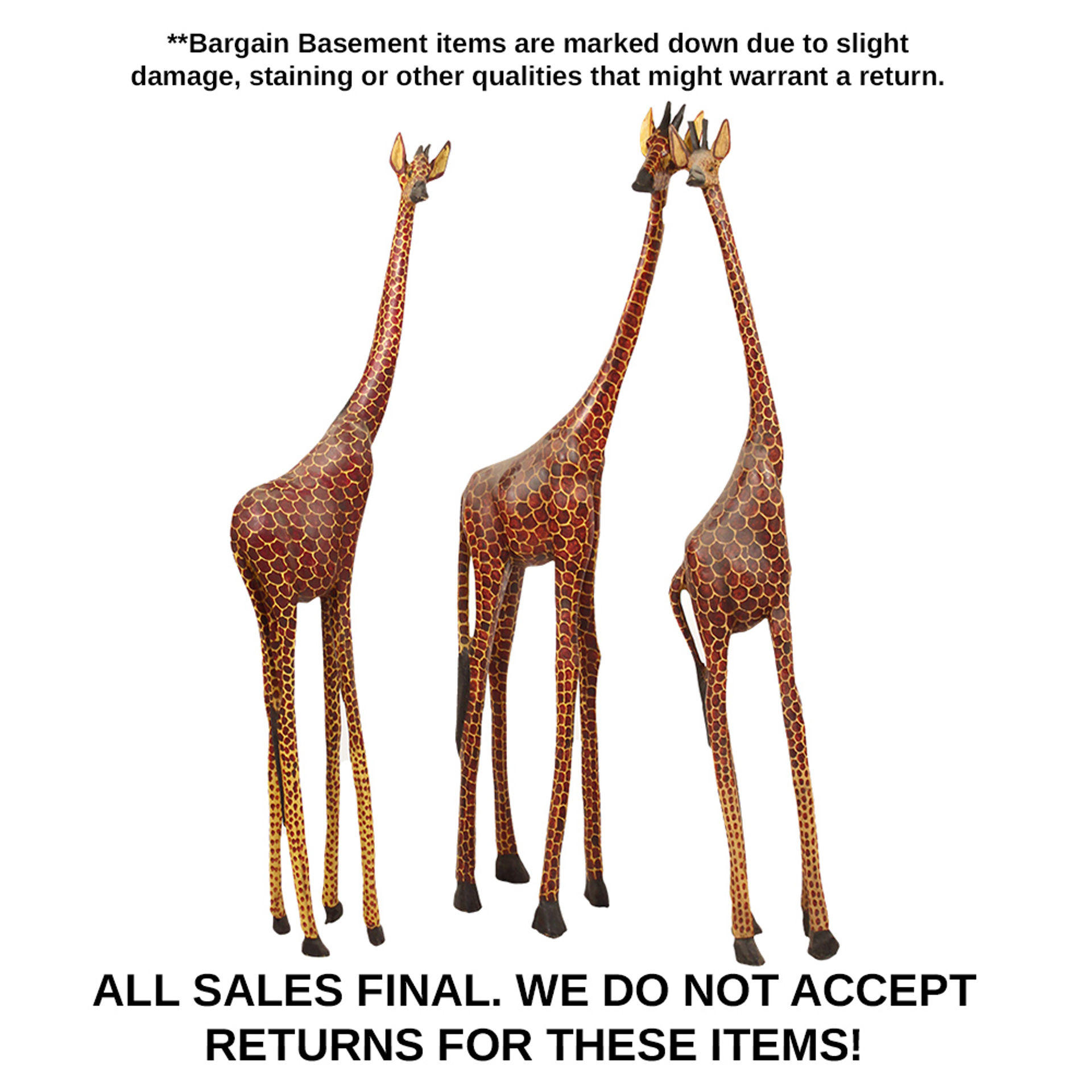 Picture of Damaged 3 Foot Giraffes