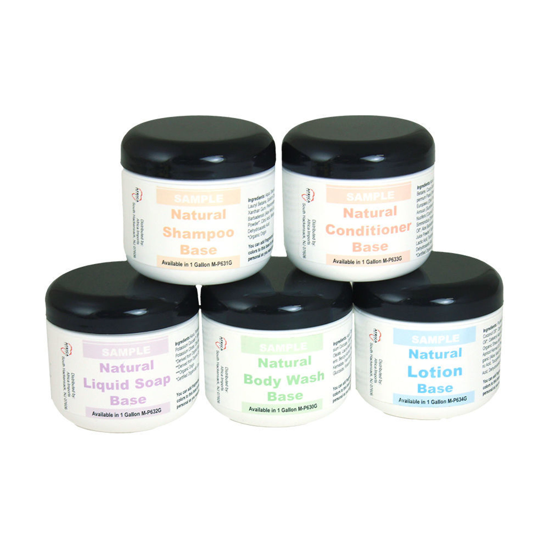 Picture of All Natural Personal Care Base Sampler